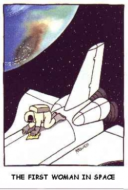 Funny photos - The first woman in space