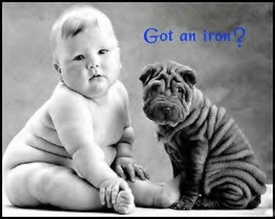 Baby pictures - Got an iron?