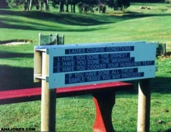 Funny photos - Ladies course conditions