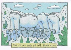 Funny photos - The other side of Mt. Rushmore
