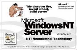 Funny photos - MS windowsNT server