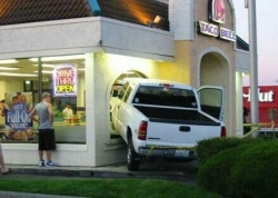 Funny photos - Drive thru open