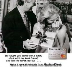 Funny photos - Bastard Card