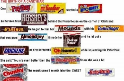 Funny photos - The birth of a candybar