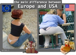 Playboy photos - The difference between Europe and USA