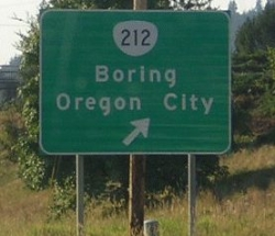 Funny photos - Boring Oregon city