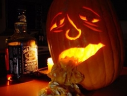 Funny photos - Pumpkin drunk