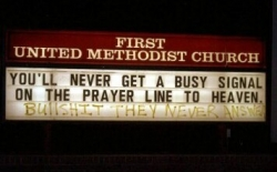 Funny photos - Prayer's line is nerver busy