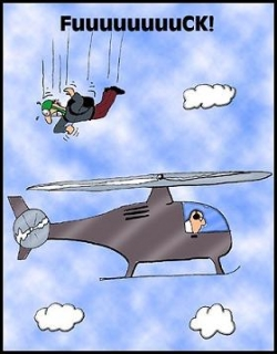 Funny photos - Stupid parachute