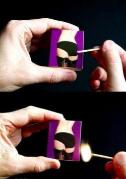 Funny photos - A hot match box