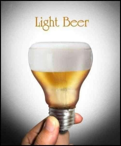 Funny photos - A bulb of light beer