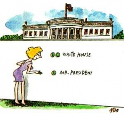 Funny photos - White house and Mr. President