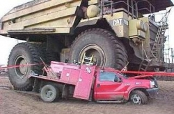 Funny photos - You stupid truck