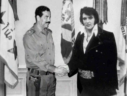 Celebrity photos - Saddam n Elvis