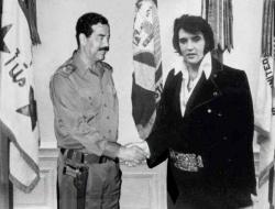 Celebrity photos - Saddam n Elvis
