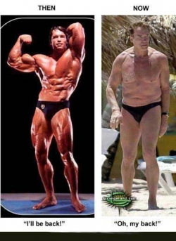 Celebrity photos - Arnold fat