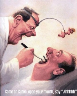 Funny photos - At dentist