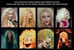 Celebrity photos - The effects of drug
