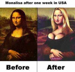 Celebrity photos - Monalisa in US