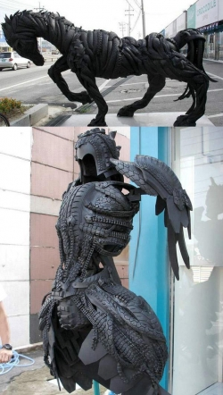 Funny photos - Tire sculptures