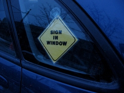 Car photos - Sign in window
