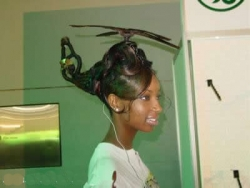 Funny photos - Helicopter hair