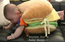 Baby pictures - Baby burger
