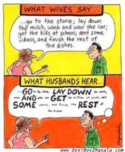 Funny photos - What Hubbys Hear?
