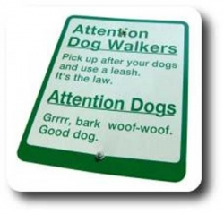 Funny photos - Attention dog walkers