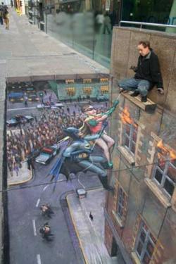 Funny photos - Side walk Art