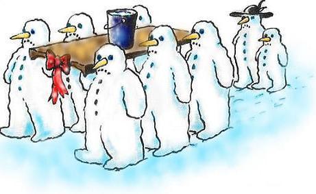 Snowman's burial
