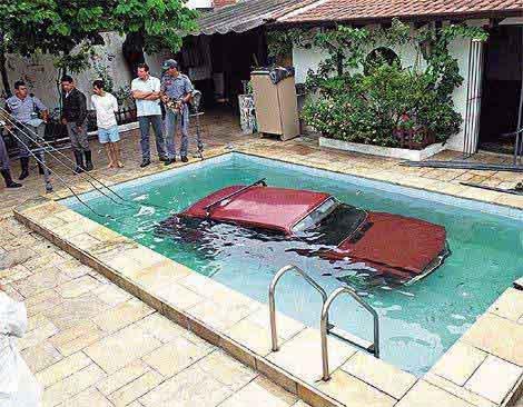 Car swim