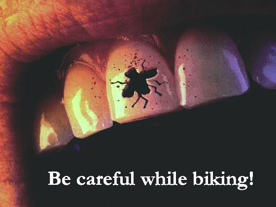 Be careful while biking