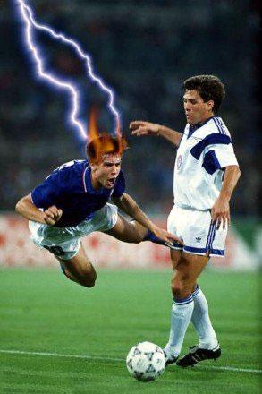 Mad footballer