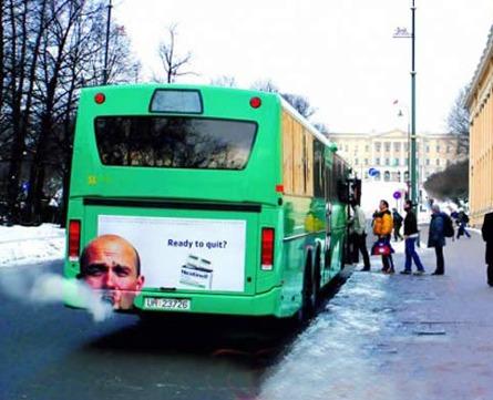 Anti smoking bus