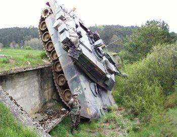 Bad tank driver