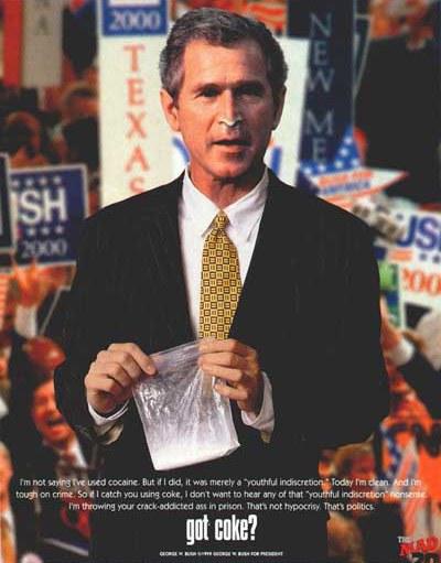 Bush got coke