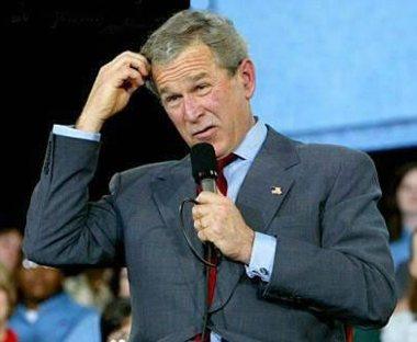 Bush is thinking