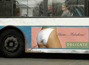 Dirty underware ad