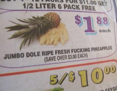Pineapple ad