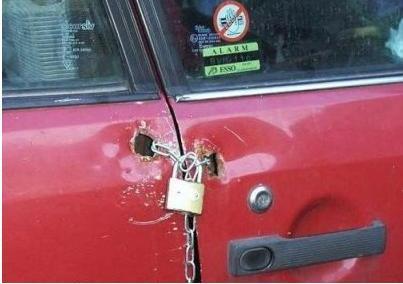A car in the ghetto