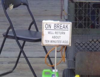 On break