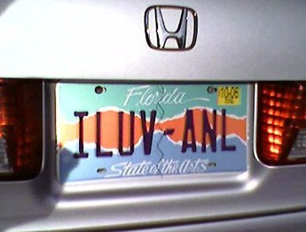 Infomative license plate