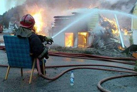 Lazy fire fighter