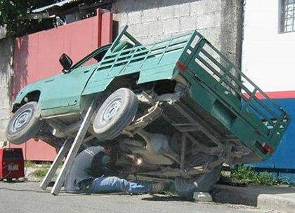 Low tech car jack