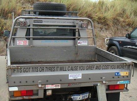 Professor's truck