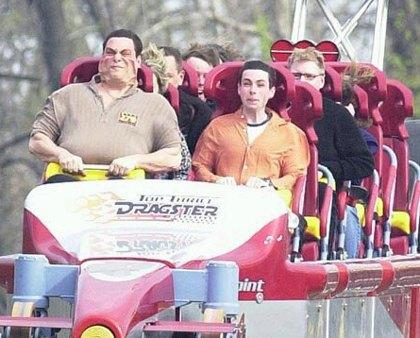 Roller coaster's face