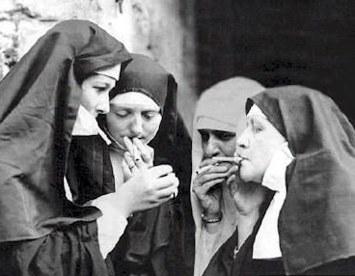 Nuns smoking