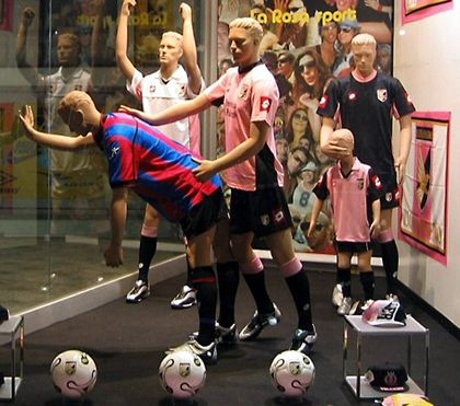 Soccer window display