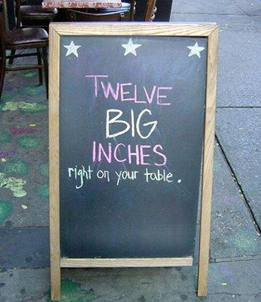 Twelve big inches